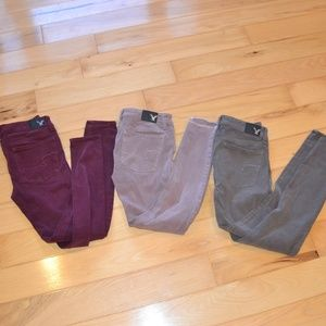 American eagle sateen jeggings 360 super stretch